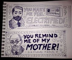 These romantic Valentine's Day doodles. | 24 Jokes Only Psychology Nerds Will Find Funny