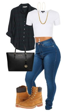 """""""untitled 125"""" by bellexo12 on Polyvore featuring Xirena, Topshop, Timberland, Lana, MICHAEL Michael Kors and Bling Jewelry"""