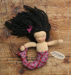 Waldorf inspired mermaid doll  small mermaid  latina by naronka