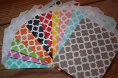 Damask Favor Bags --5x7 - set of 12 bags --  -- Choose colors and patterns - pinned by pin4etsy.com