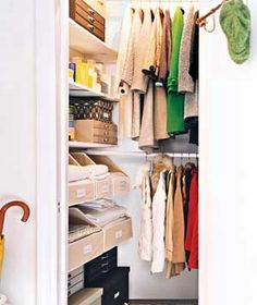 Using the dead spaces at the end of our closets for shelving (shoes and stuff) - why didn't I think of that? Those spots always get crap stuffed into them since you can not see it anyways.