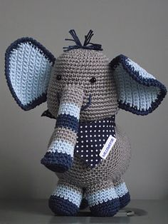 Adorable crochet elephant