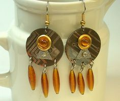 RECYCLED CIRCUIT BOARD Steampunk Techcraft Jewelry Earrings | ThreeRingCircuits - Jewelry on ArtFire