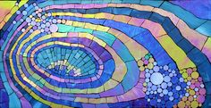 Echos a stained glass mosaic by Kasia Polkowska  See More Work: https://www.facebook.com/KasiaMosaics