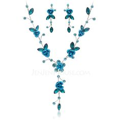 Jewelry Sets Anniversary Wedding Engagement Birthday Gift Party Daily Alloy Crystal Purple Blue Lobster Clasp Pierced Ladies' Fashional 15.7