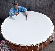 Jonathan Haas: The world's largest timpani, debut in PASIC 2003