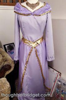 Thoughts of Bridget: Jasmine Purple Dress Tutorial