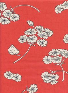 Haiku: Falling Bloom - Coral (1/2 Yard) - Asian Japanese Floral Quilt Fabric from www.debsews2.com