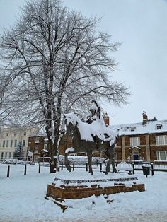 Banbury in the snow