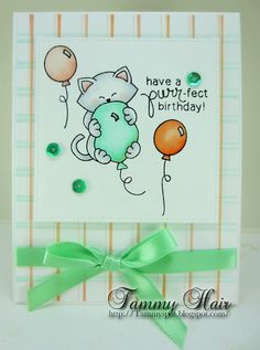 Tammy's Spot: Have a purr-fect birthday | Newton's Birthday Bash stamp set by Newton's Nook Designs