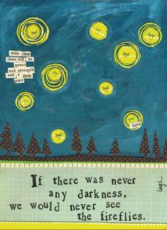 Fireflies Card / Curly Girl Design