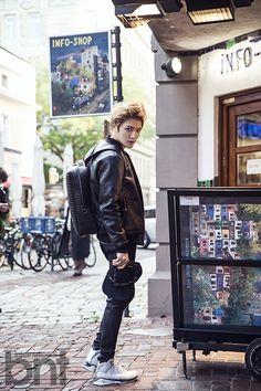 [OTHER FACEBOOK] 141203 Moldir Korea Facebook Update: Kim Jaejoong's Square Studded Backpack in bnt pictorial in Vienna, Austria