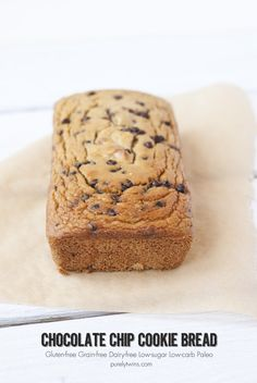 chocolate chip cookie bread that is #lowcarb #glutenfree #grainfree