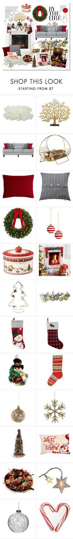 """""""New Year 's fireplace"""" by foximperial ❤ liked on Polyvore featuring interior, interiors, interior design, home, home decor, interior decorating, Luxe Collection, Michael Aram, Pier 1 Imports and Villeroy & Boch"""