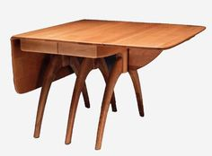 Haywood Wakefield:: butterfly-drop-leaf-extension-table