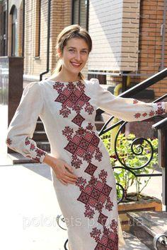 Платье с вышивкой, лен - Дизайн-студия Оксаны Полонец в Киеве