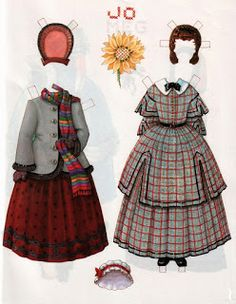 Free Printable Little Women Paper Dolls: Clothes for Jo