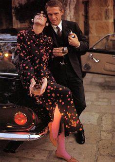 Steve McQueen, Peggy Moffitt .