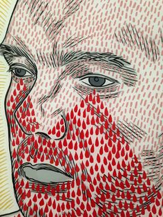 Conrad Botes portrait of Ruan Hoffmann 2014 South African Artists, Spiderman, Illustrations, Superhero, Portrait, Abstract, Face, Artwork, Fictional Characters