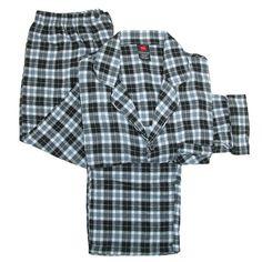 Hanes Men's Cotton Flannel Pajama Set