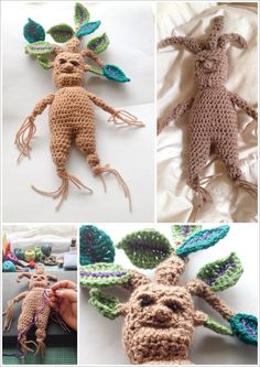 Baby Mandrakes. My own design - no pattern presently. I will at some point write one.