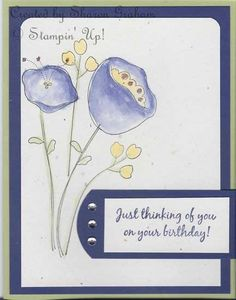 Awash with Daffy Concord by Sharon Graham - Cards and Paper Crafts at Splitcoaststampers