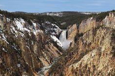 La canyon de Yellowstone aux Etats-Unis