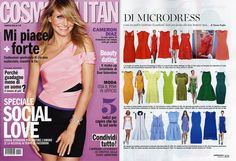 Nel colorato e divertente servizio di COSMOPOLITAN, dedicato ai microdress più trendy della stagione PE 2015, la stylist Ylenia Puglia seleziona l'abito Hilo di Eklè www.ekle.it #eklestyle