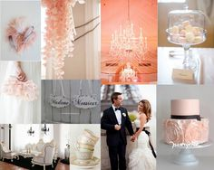 Parisian Chic Wedding Board