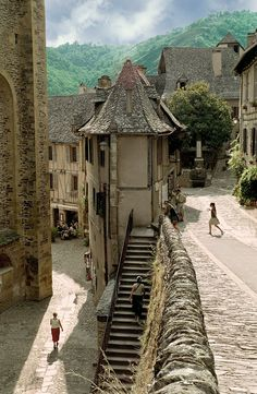 Conques, France - storybook village