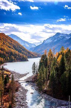 Just around the autumn riverbend...