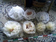 Kwiaty z firanek.Dla E.Sz.
