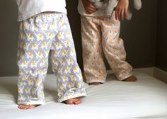 Oliver + S bedtime story pajama sewn in cozy fanfare flannel!  // skirt as top