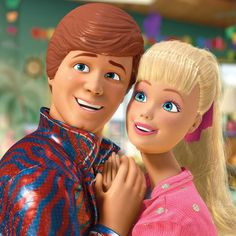 "Barbie and Ken! I love ""Toy Story""!"