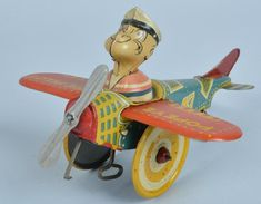 MARX Tin Windup POPEYE THE PILOT Early Version