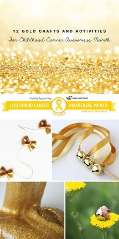 12 Gold crafts and activities for childhood cancer awareness month