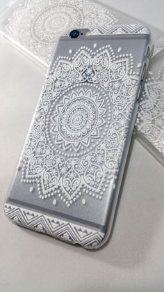 FREE SHIPPING!! White Henna Floral Mandala Case for iPhone & Samsung