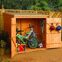 wooden shed: £175 (incl. floor); slightly smaller: 176 x 75 (internal); 182 x 82 (ext).