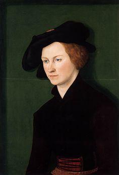 Lucas Cranach, Northern+Renaissance+Painter (1472-1553) and workshop , Portrait of a Young Woman,date 1522