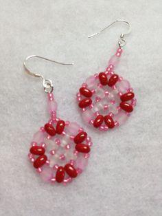 Beadwoven Earrings by BeadingBeeCreations on Etsy, $12.00