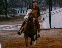 1966 Elvis riding at Graceland