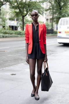 love the dress! I probably wouldn't do the blazer because I get hot really quickly. Would you do relatively short shorts under the dress? Are we sure it's a dress and not a set of rompers? I would love them if they're rompers too regardless!