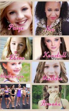 The original 7! Paige, Brooke, Kendall, Chloe, Maddie, Nia,& Mackenzie