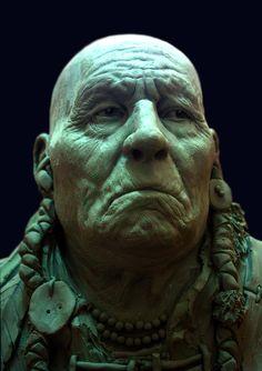 Sculpture head De Alex Oliver