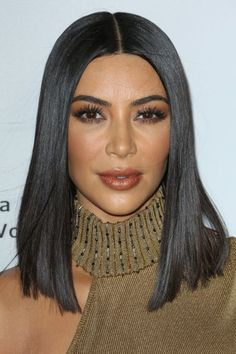 Kim Kardashian went all Cleopatra on us debuting her sleek new super straight bob at the The Promise premiere.