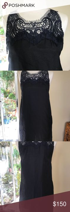 MASON NAVY BLUE SHORT DRESS MASON navy dress. Has zipper up the side and beautiful lace neck detail. This is one of my favs, so sad it's too small now😔 lightweight and has pockets Mason Dresses Mini