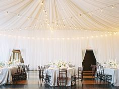 photo: Abby Jiu; love the draping of the gorgeous wedding reception;