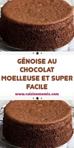 easy and light chocolate sponge cake, hello everyone! Easy Cake Recipes, Sweet Recipes, Snack Recipes, Dessert Recipes, Chocolate Sponge Cake, Chocolate Shop, Fluffy Chocolate Cake, Bolo Genoise, New Years Eve Dessert