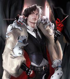 The male version of Cruella De Ville. Hotness impersoned.