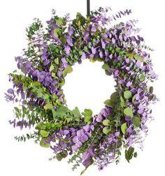 Kiwi Lilac Eucalyptus Wreath - Natural Wreath